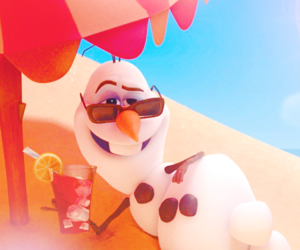 frozen, olaf, and summer image