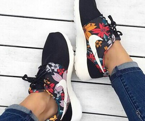 black, comfortable, and floral image