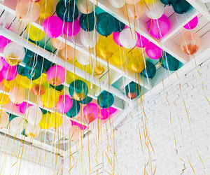 balloons, party, and colorful image