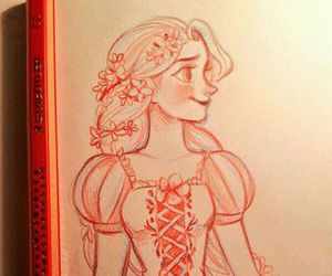rapunzel, drawing, and tangled image