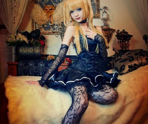 anime girl, cosplay, and death note image