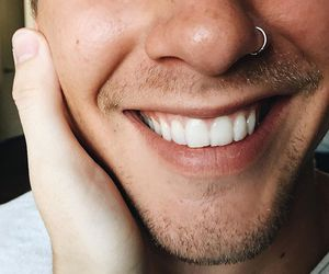smile, boy, and piercing image