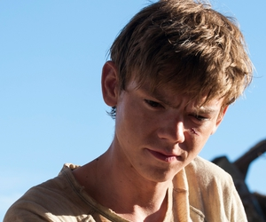 newt, thomas sangster, and the scorch trials image