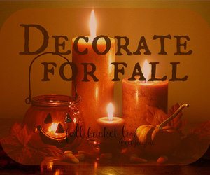 autumn, beautiful, and candles image