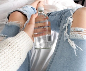 jeans, water, and white image