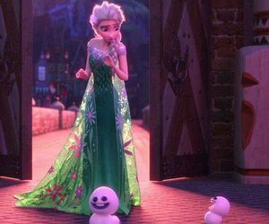 fashion, green, and disney frozen fever image