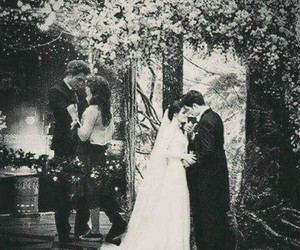 black and white, edward cullen, and kiss image