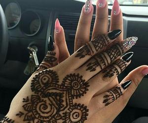henna, blacknails, and bestfriends image