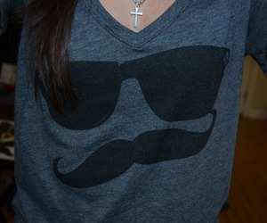 shirt, mustache, and moustache image