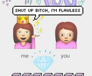 wallpaper, emoji, and Queen image