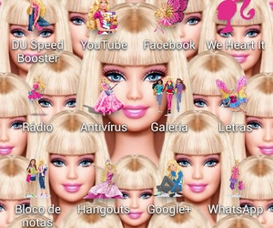 barbie, celular, and galaxy image