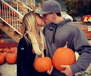 couple, fall, and photography image
