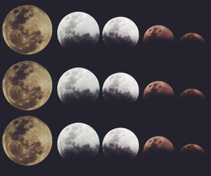 moon, cute, and love image