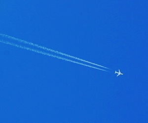 airplane, blue, and fine image