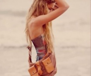 girl, beach, and blonde image