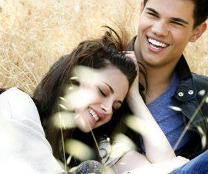 Taylor Lautner, twilight, and kristen stewart image