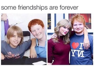 Taylor Swift, ed sheeran, and friendship image