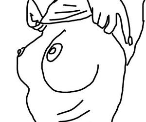mulher, outline, and outlines image