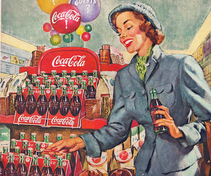 1940s, fashion, and coca cola image