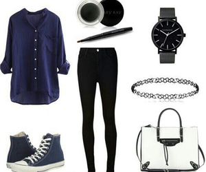 outfit, cute, and blue image