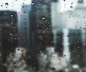rain, city, and sad image