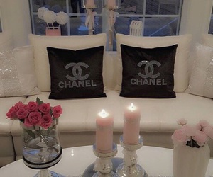 chanel, flowers, and room image
