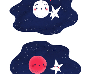 stars, cute, and moon image