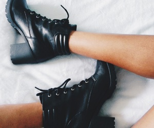 black boots, happy, and indie image