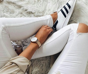 adidas, watch, and white image