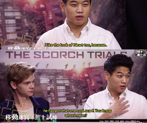 thomas brodie sangster and ki hong lee image