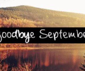 September, autumn, and goodbye image