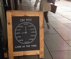 coffee, time, and funny image