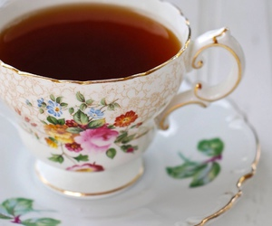 flowers, girly, and tea image
