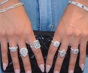 rings, nails, and diamond image