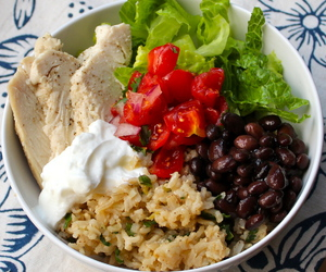 burrito, Chicken, and rice image