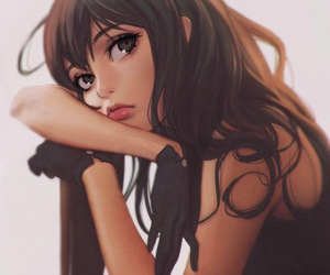 anime, brown hair, and pretty image