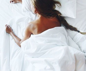 girl, bed, and hair image