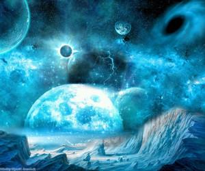planeta, universo, and espaço image