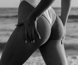 beautiful, body, and black and white image