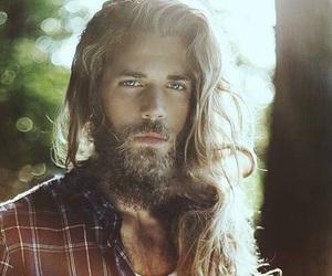beard, Hot, and long hair image