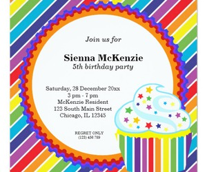 cupcake, invitations, and kids image