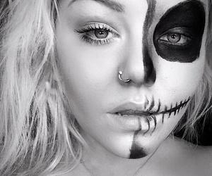 autumn, Halloween, and makeup image