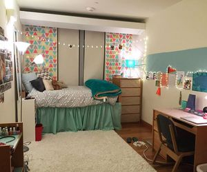 college, dorm, and room image