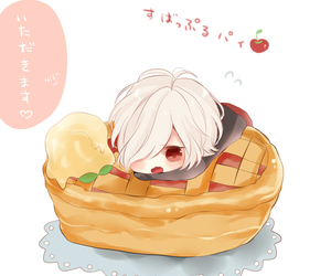 anime, boy, and cherry pie image