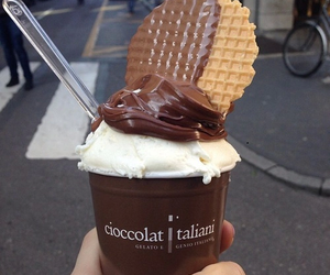 chocolate, food, and ice cream image