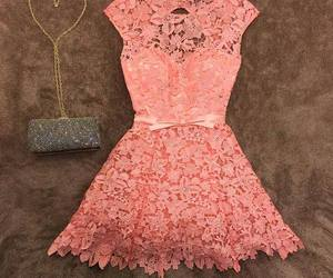 dress, lace, and look image
