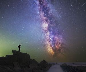 landscape, night, and star image