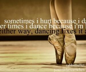 dance, ballet, and hurt image