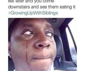 siblings, food, and funny image
