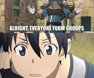 funny, sword art online, and anime image